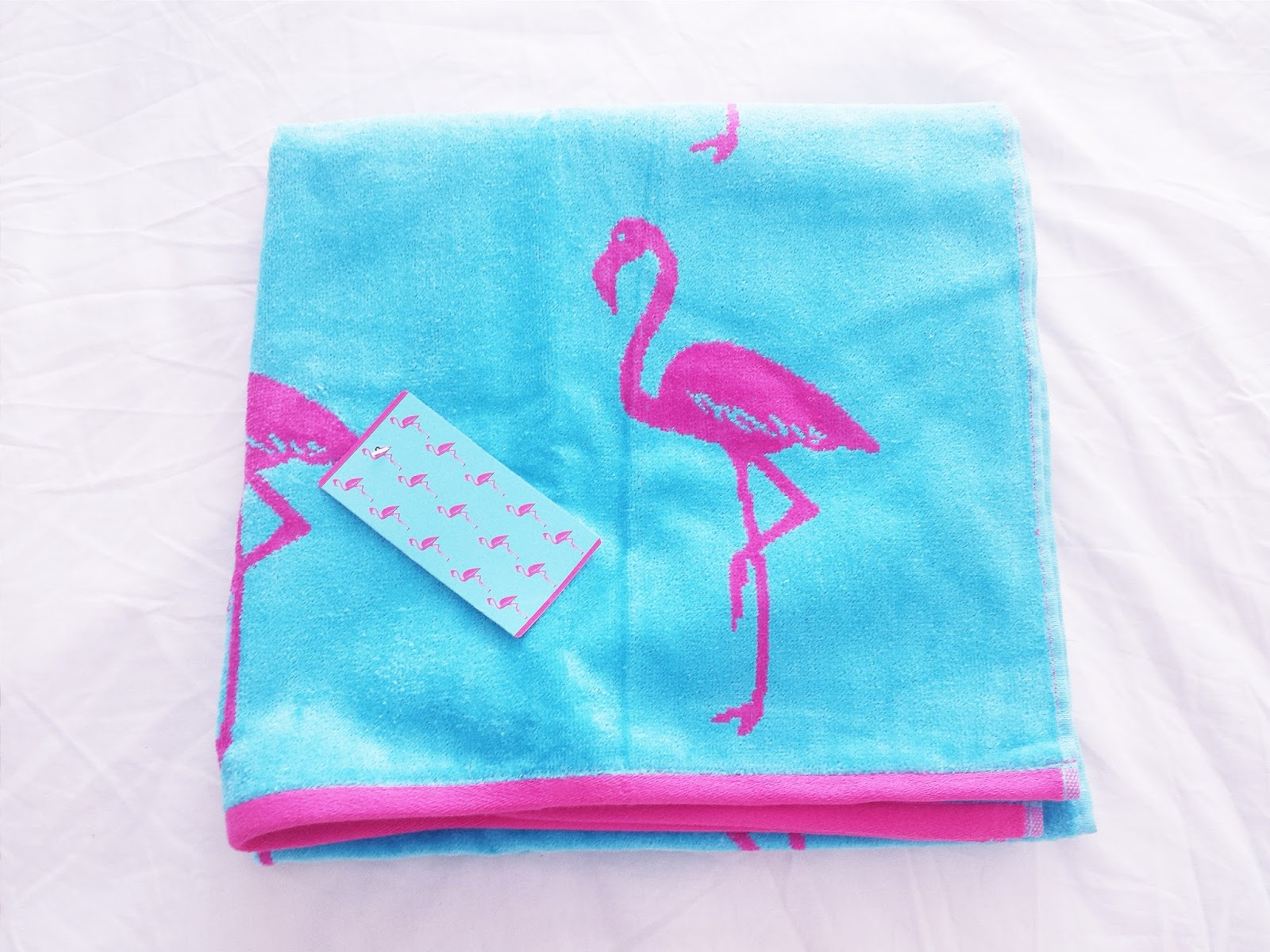 Primark Haul June 2015 Blue & Pink Flamingo Towel
