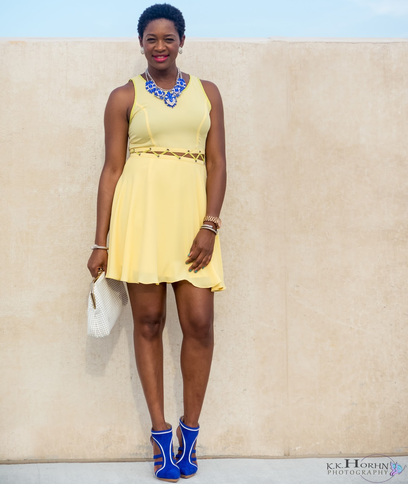 Blue and yellow dress shoes – Dress and bottoms
