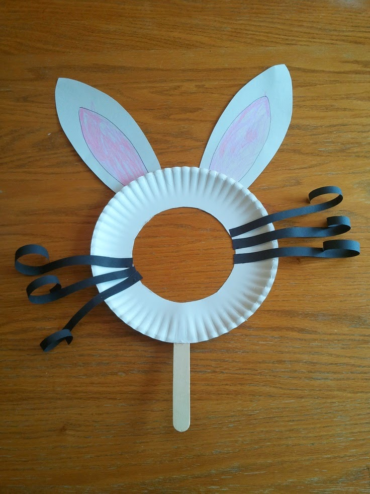 Paper Plate Bunny Mask & Paper Plate Bunny Mask | Munchkins and Mayhem