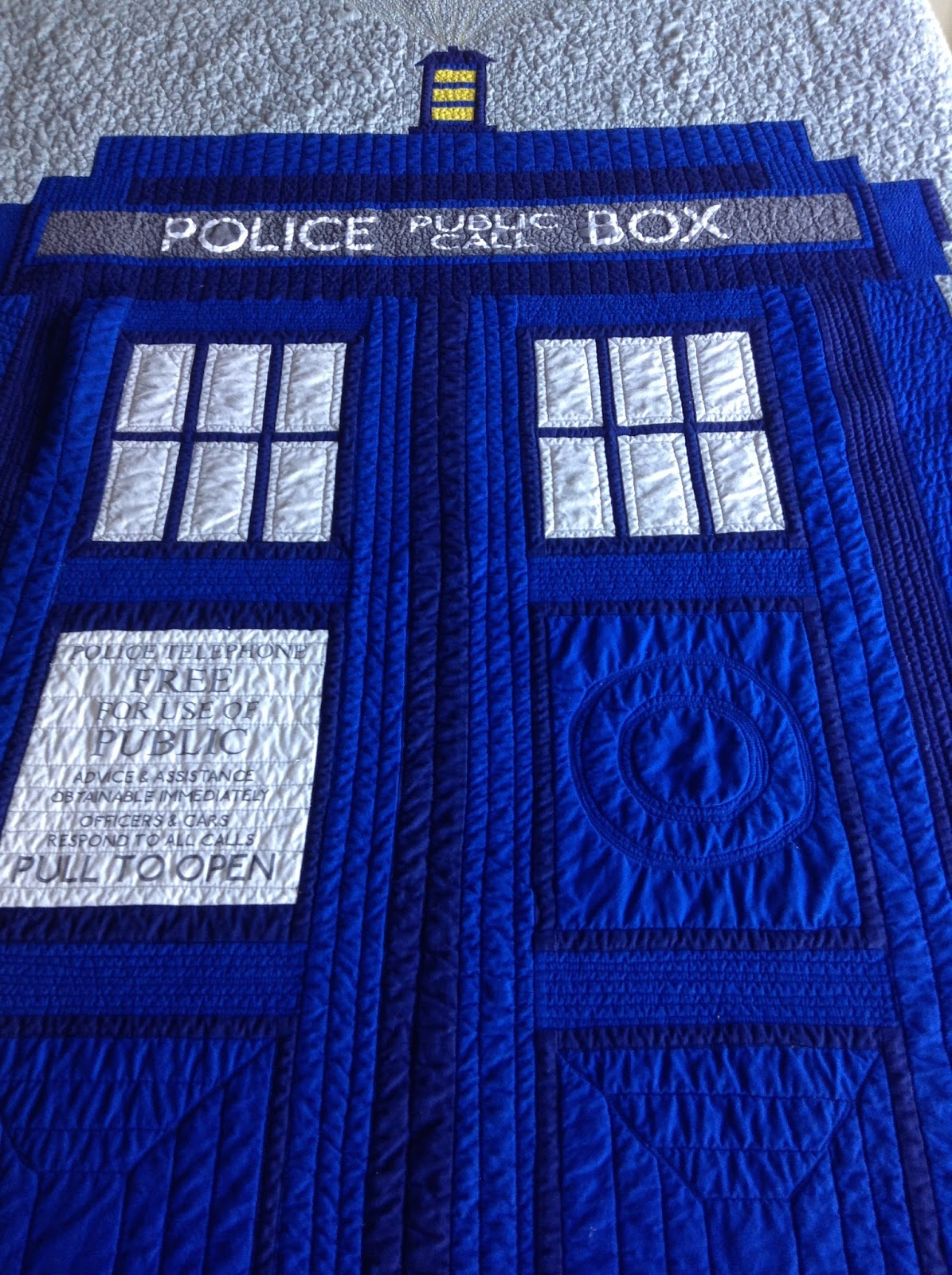 the fifty factor dr who and the tardis quilt the tardis so i could quilt it as