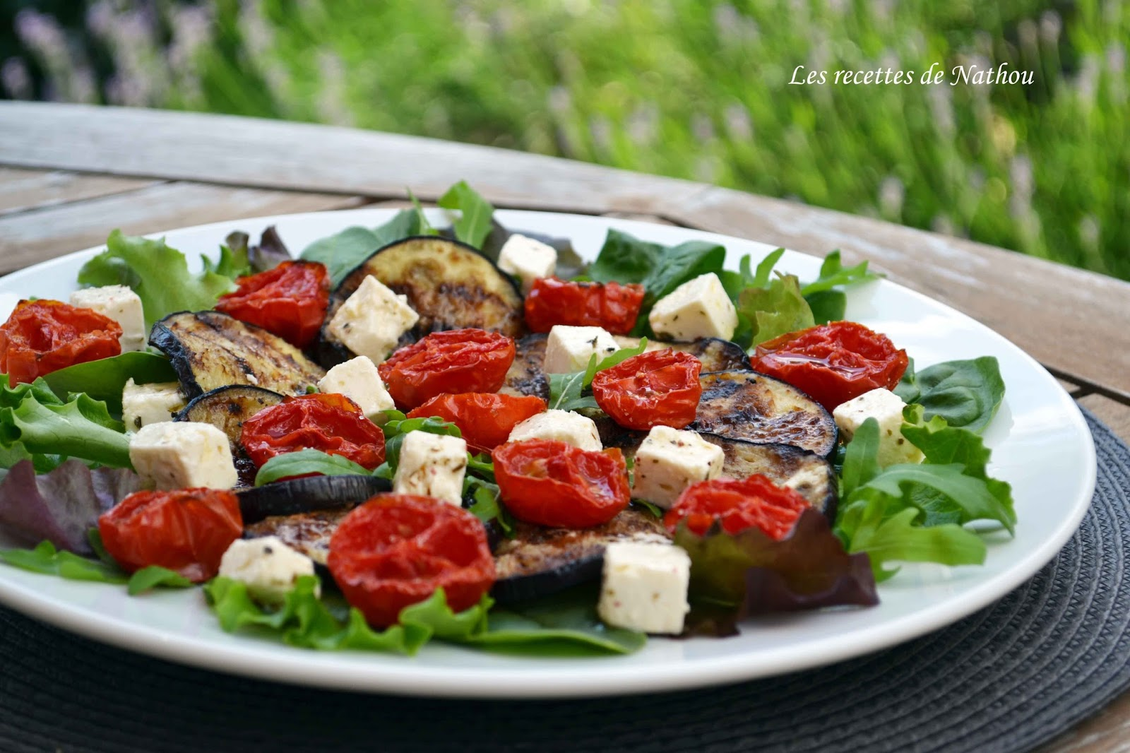 Ma cuisine au fil de mes id es salade d 39 aubergines for Entree estivale
