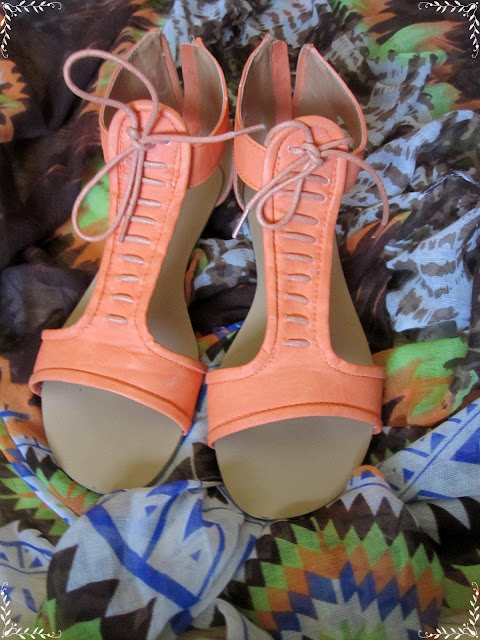 Sandalias Naranjas con Cordones