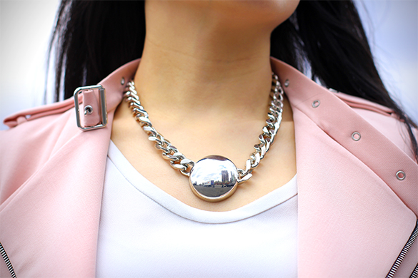 Zara silver chain with medallion necklace