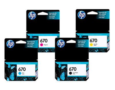 670 hp ink cartridges