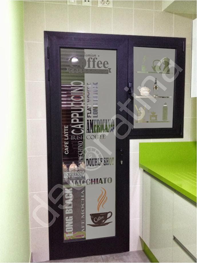 Vinilo puerta cocina cristal materiales de construcci n - Vinilos puertas cocina ...