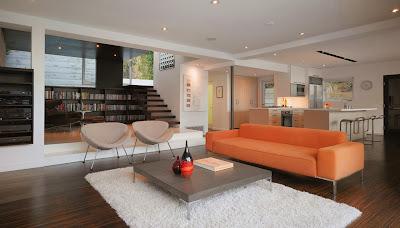 Ruang keluarga Dengan Sentuhan Warna Orange 10