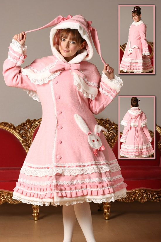 pink lolita coat