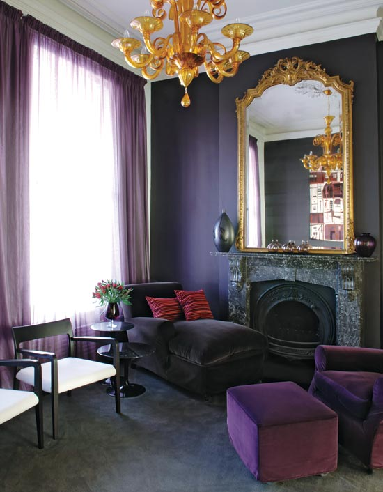 Decor me happy by elle uy purple plum and barney - Purple and black living room ideas ...