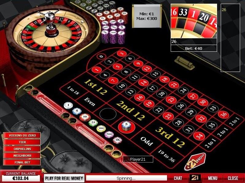 21 Nova Casino Roulette Screen
