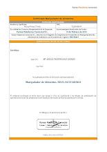 Certificado manipulador de alimentos alto riesgo.
