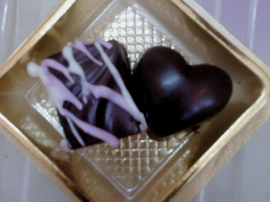 Choco Dark Milk Wafer & Choco Dark Milk Love Shape