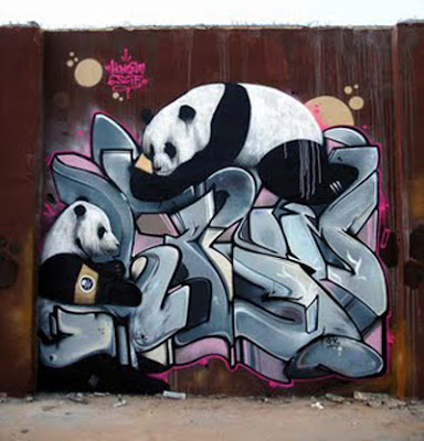Graffiti Mural - affection to animals