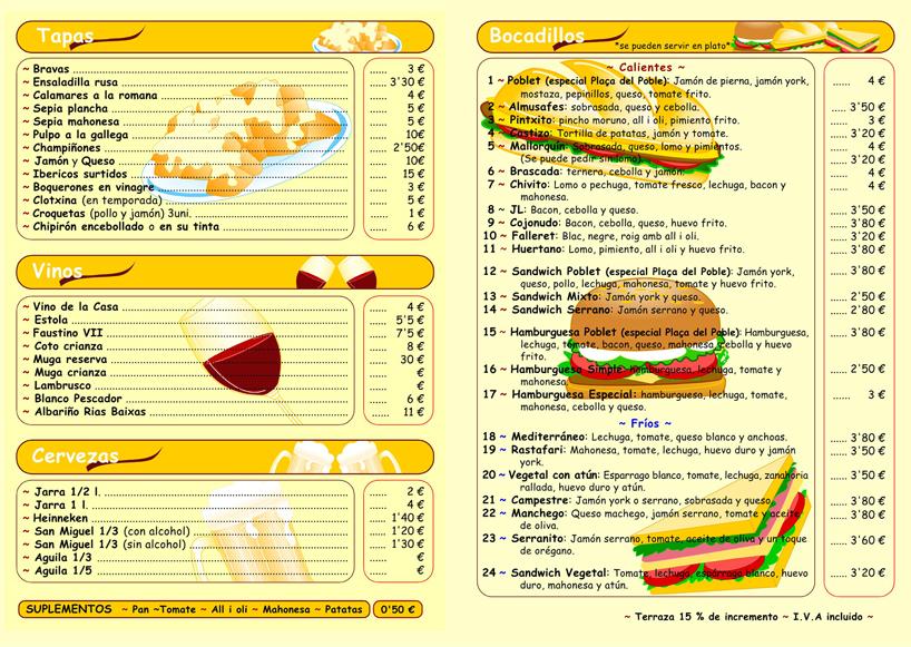 Neus ilustraciones y dise os restauraci n carta men for Disenos de menus para cafeterias