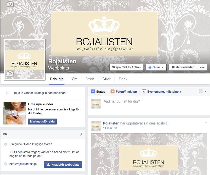 Gilla Rojalisten på Facebook