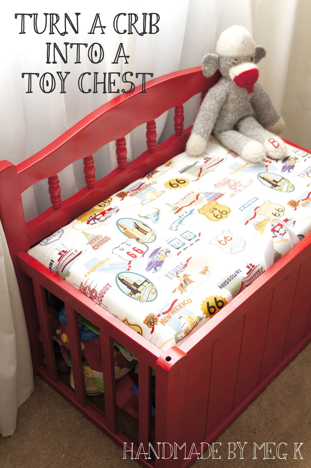 handmade by meg k my old crib to ben 39 s new toy chest. Black Bedroom Furniture Sets. Home Design Ideas