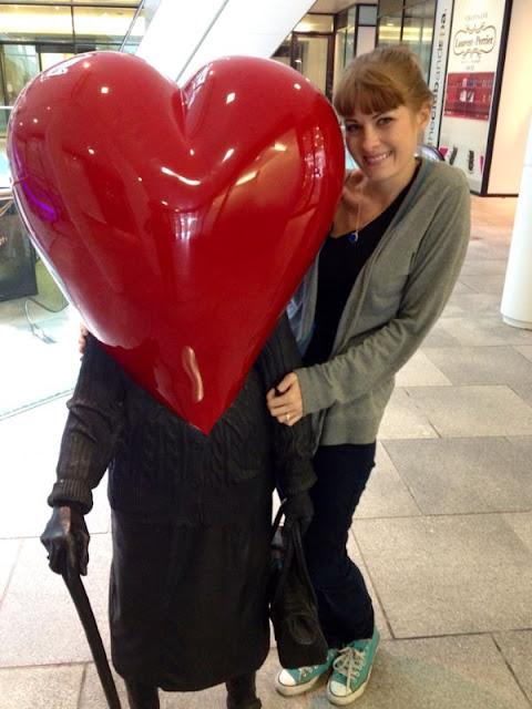 heart statues birmingham england