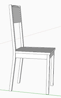 angled rear chair leg