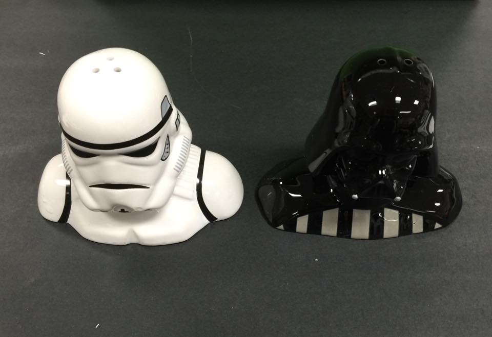 Busy miss b star wars reads day 2015 - Darth vader and stormtrooper salt and pepper shakers ...