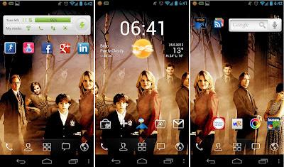 Obrazovky mojeho Samsung Galaxy Nexus