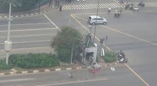 Foto Bom Bunuh Diri Sarinah Thamrin Jakarta 2016
