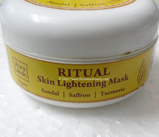 aura vedic ritual skin lightening mask review