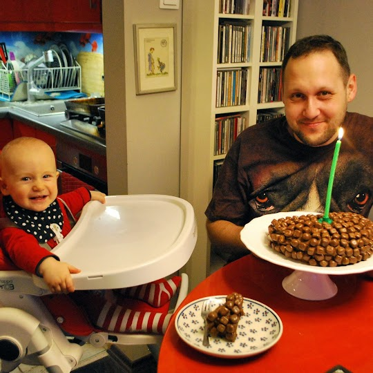 Tort podwójnie czekoladowy z pop choc