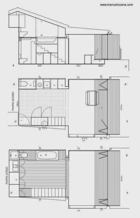 Arquitectura de Casas: Loft de 30 m2 en Madrid.