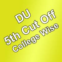 Delhi University fifth Cut Off List