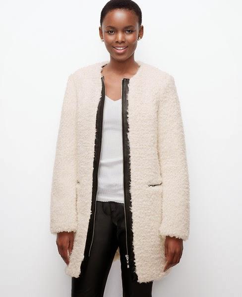 Ann Taylor Edged boucle coat