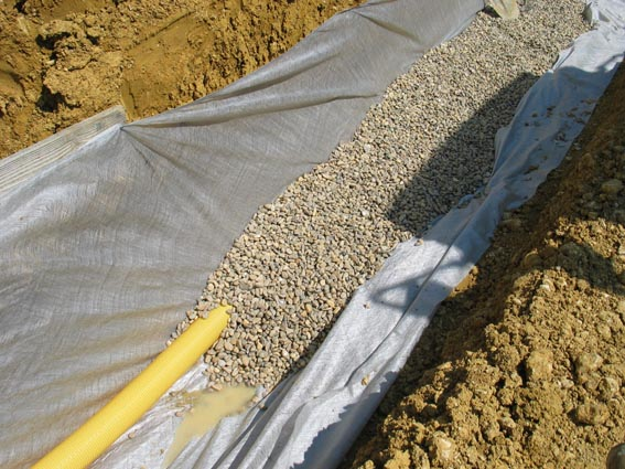 Notre maison ossature bois bioclimatique drainage - Comment drainer un terrain ...