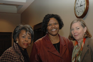 Angela Fisher Hall, Sephira Shuttlesworth, and Renee Blalock attend January 18, MLK Memorial Lecture program