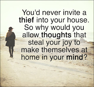 Staying Alive is Not Enough :You'd never invite a thief into your house. So why would you allow thoughts that steal your joy to make themselves at home in your mind?