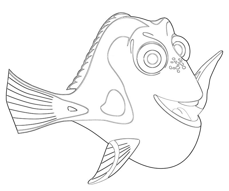 Printable Dory Fish Coloring Pages