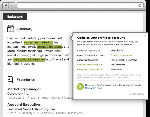 Axiom Creative Energy: LinkedIn Premium Keyword Suggestions