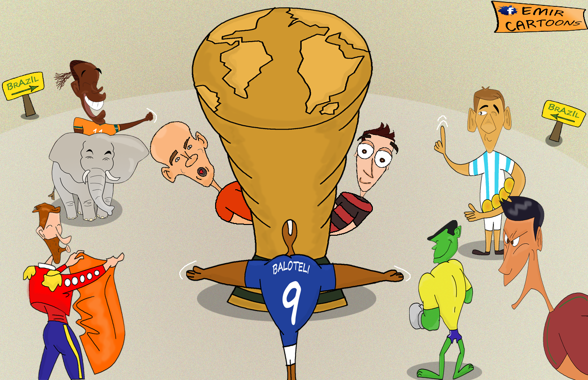 Svjetsko Prvenstvo,Brazil,Prenos ,utakmica, Mundijala ,Golove, emir cartoons, karikature fudbal,