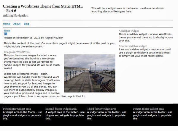 Creating a WordPress Theme from Static HTML – Adding Navigation