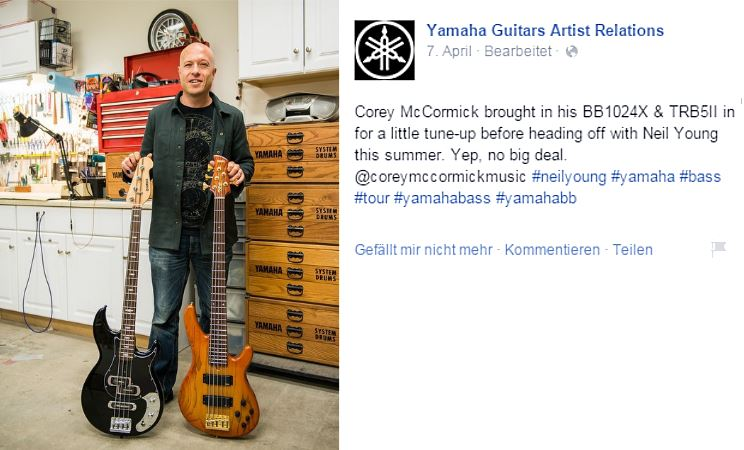 Corey McCormick über Neil Young-Tour 2015