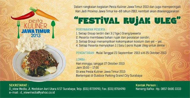Festival Rujak Uleg 2013 Jawa Timur