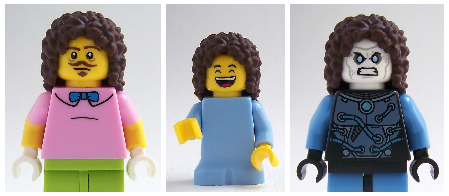 LEGO friends hair on LEGO minifigures