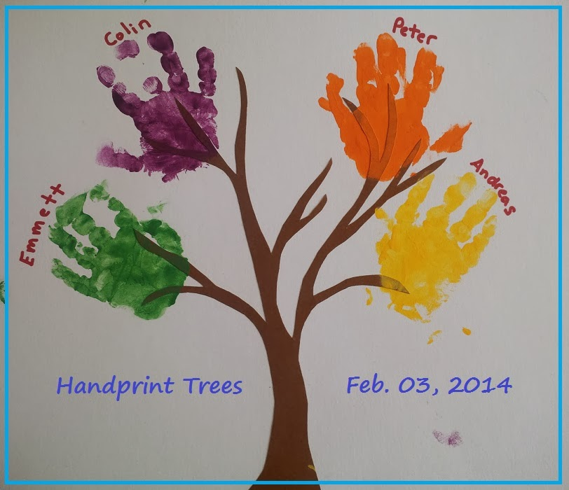 baby and me craft time handprint trees