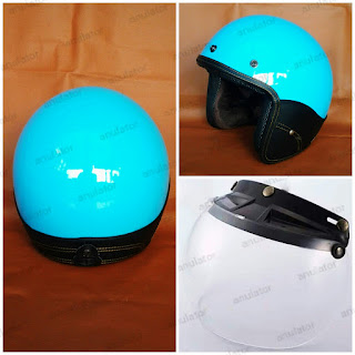 Helm Retro Classic Model Blue Lagoon