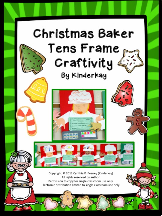 http://www.teacherspayteachers.com/Product/Christmas-Baker-Tens-Frame-Craftivity-439149