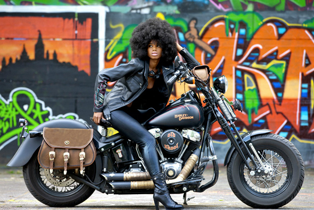 Motorcycle Girl 063 Foxy Lady ~ Return of the Cafe Racers