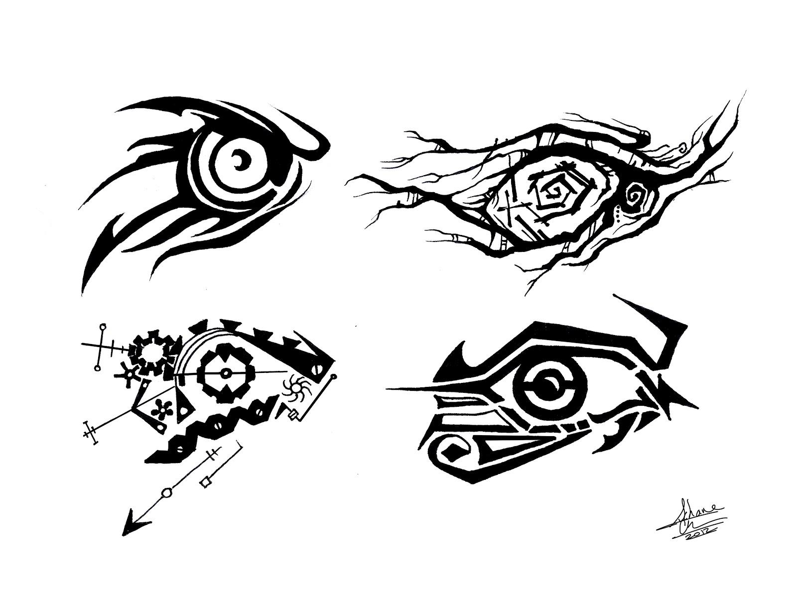 Значение тату глаз с крыльями