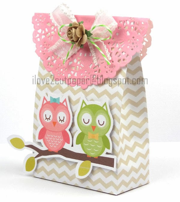 Paper Bag - Chevron - Miss Kate Cuttables - Pazzles