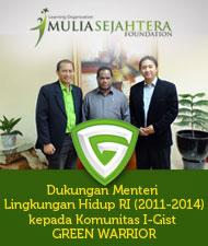 Dukungan Menteri Lingkungan Hidup