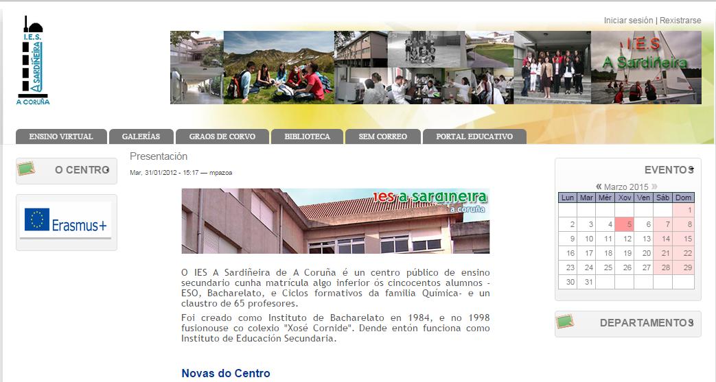 Web del IES A Sardiñeira