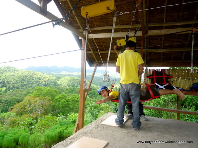 ed doing zipline in Bohol