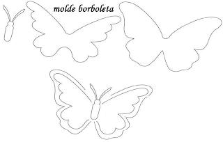 moldes da borboleta