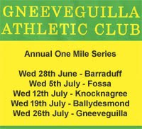 One Mile Race Series in Kerry & NW Cork...Every Wed